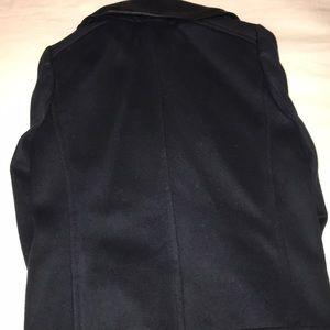 J. Crew Jackets & Coats - Jcrew Collection navy pea coat w/ black leather